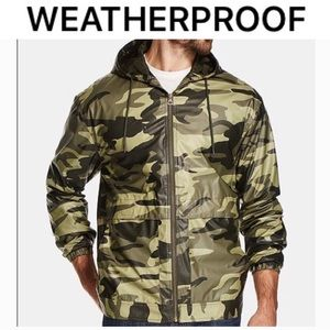 Men's Camo-Print Hooded Jacket